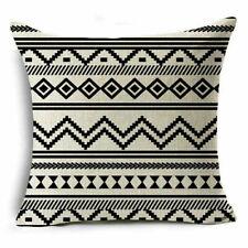 Bohemian Ethnic Geometric Home Decor Cotton Linen Pillow Case Square Cushion