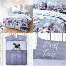 Christmas Unicorn Modern Duvet Cover Reversible Bedding Set with Pillowcases