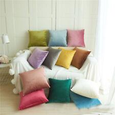 """Luxury Velvet Throw Pillow Case Cushion Cover Elegant 18"""" Home Room Car Decor"""