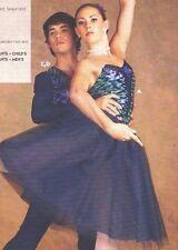 NWT Velvet Ballet costume Romantic Long Tutu Navy Plum Clear strap Ch/ladies $70