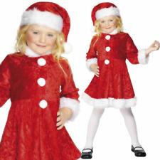 Filles Mini Madame Noël Déguisement Costume avec chapeau 4-12 ans Smiffys 29181