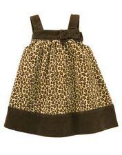 NWT GYMBOREE GLAMOUR KITTY BROWN LEOPARD DRESS 3-6 MO