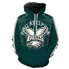 Philadelphia Eagles printed Pullover Pocket Sport hoodies Hat M-6XL 2182
