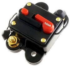 100 AMP 12/24V DC CIRCUIT BREAKER REPLACE FUSE 100A 12/24VDC FAST FREE USA SHIP