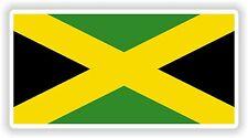 "Jamaica flag sticker 2x4"" 50x100mm bumper decal car laptop tablet auto bike moto"