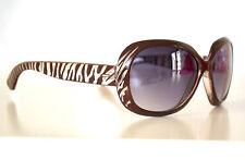 Occhiali da sole donna marroni beige lenti aste tigrate maculate sunglasses 2