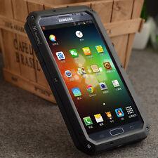 Aluminum Metal Case with Gorilla Glass Fr Samsung Galaxy Note 2 N7100 ShockProof