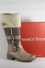 Marco tozzi stivali da donna stivaletti stivali invernali beige vera pelle NUOVO!!!