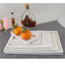 Plastic Plain serving tray, breakfast/tea snack tray Kitchen Platter White