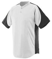 Augusta Sportswear Men's Raglan sleeves Two Button Sports Henley T-Shirt. eba