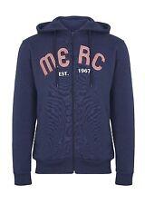 Mens Merc London Classic Retro Mod Hooded Jacket - Froome Navy Blue
