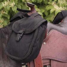 Cashel Quality Deluxe Small Horse Saddle Pommel Horn Bag, Padded Pockets Black