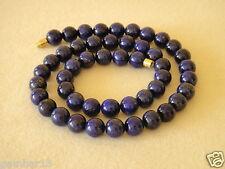 Blue Lapis Lazuli 8mm Necklace Round Beads Various Lengths 8 mm Lapis Beads