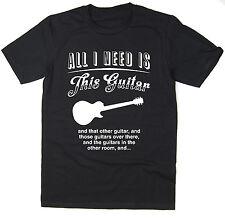 MI serve solo questa chitarra-Les Paul Chitarra Divertente T-Shirt-Molti Colori