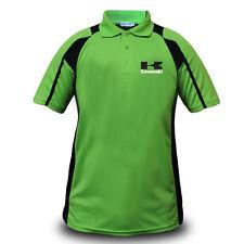 Genuine Kawasaki Motorcycle Motocross Superbike Biker Green Men Polo Tee T-Shirt