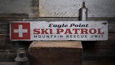 Ski Patrol Decor, Ski Patrol Wood Sign -Distressed Wooden Sign ENS1001993