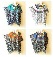 Batik Paisley Bohemian Women Plus Kaftan Poncho Hippy Women Blouse Top - S to L