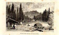 Stampa antica PONTE delle CAROVANE fiume Melos Turchia Turkey 1892 Old Print