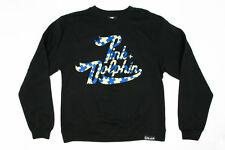 Pink Dolphin HOLIDAY SCRIPT Black Yellow Checker Crewneck Men's Sweatshirt