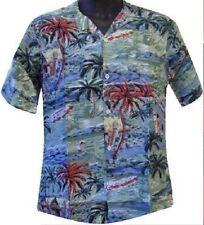Mens Hawaiian Shirt Beach Stag Aloha Party Summer Holiday Fancy Dress Palm Trees