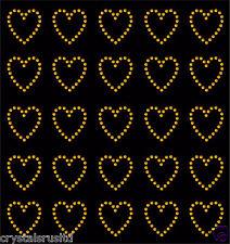 30 Rhinestone Corazones de Hierro-en la transferencia de Diamante Cristal Piedra Bling Motivo