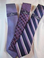 NWT MEN'S STAFFORD STRIPED & GEOMETRIC DESIGN TIE, Multiple Styles, Purples