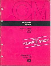 John Deere 110 Disk Service Shop Copy Operators Manual
