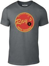 La realidad Glitch Hombre Camiseta de intercambio de música rayos
