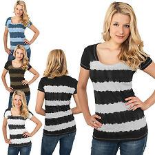 Urban Classics Ladies Ladies' Dip Dye Stripe T-shirt batik top t-shirt XS - XL