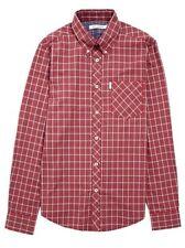 BEN SHERMAN Men's Long Sleeve Tartan Check Shirt MA10848 Red Sizes: L & XXL