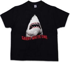 WHITE SHARK II Kids Boys T-Shirt Jaws Surfer Diver Hawai Attack Giant Killer
