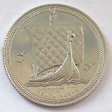 Isle of Man 1985 Viking Ship Platinum Coin,BU