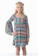 RARE EDITIONS TWEEN DIVA Girls 7-16 Bohemian Bell Sleeve Chiffon Dress *NWT $58
