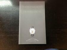 Book Catalogue  - A. LANGE & SÖHNE - Montres Relojes Watches - Español Spanish