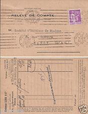 Relevé de Compte Postaux Carte Postale Paris 1933-59
