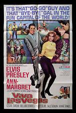 VIVA LAS VEGAS ✯ CineMasterpieces ANN MARGRET MOVIE POSTER 1964 ELVIS PRESLEY
