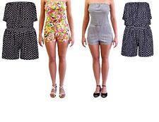 Ladies Off Shoulder Polka Dot Frill Top Boob tube Palazzo leg Jumpsuit/ Playsuit