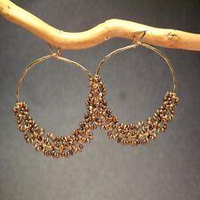 Seychelles 119 ~Seed Pearl Color Choice on Hoop earrings with Metal Choice