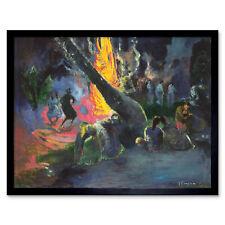 Paul Gauguin Upa Upa The Fire Dance Art Print Framed 12x16