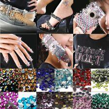 1000 Hotfix Glas Strasssteine SS10 / 2,7mm Glitzersteine zum Aufbügeln Farbwahl