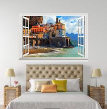 3D cielo del atardecer Casa 127 ventanas abiertas impresión de pared de papel pintado wandbilder AJ Jenny