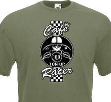 T-shirt CAFE RACER  Racing Motorcycle Ton-Up Biker Race Retro Triumph Triton BMW