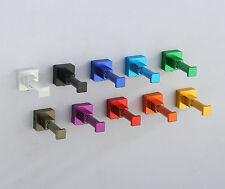 Garderoben Haken Quadrat 2er Set Aluminium versch. Farben einfache Montage