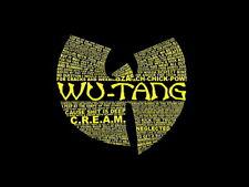 Wu-Tang Clan Logo Text Lyrics Hip-Hop Music Rap Giant Wall Print POSTER