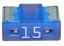 Lot 1 2 5 10 mini fusibles 15A auto moto à lame low profile bleu pince fusible