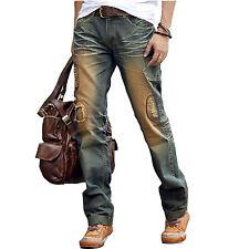 Mens Denim Jeans Regular Ripped Faded Designer Stylish Trousers Pants