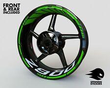 - RIM STICKER KIT Graphics - Fits Kawasaki Z900 Decals Wheel Stripes Tape