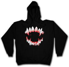 VAMPIRE DENTITION HOODIE HOODED SWEATSHIRT Bite Teeth Jaws Blood Dracula Tooth