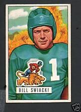 1951 Bowman Football Card #132 Bill Swiacki-Detroit Lions