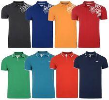 Crosshatch Polo Pique Camiseta Nuevo Hombre Camisa Jersey Rojo Azul Naranja Gris